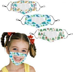 mondkapjes voor kinderen met zichtbaar venster